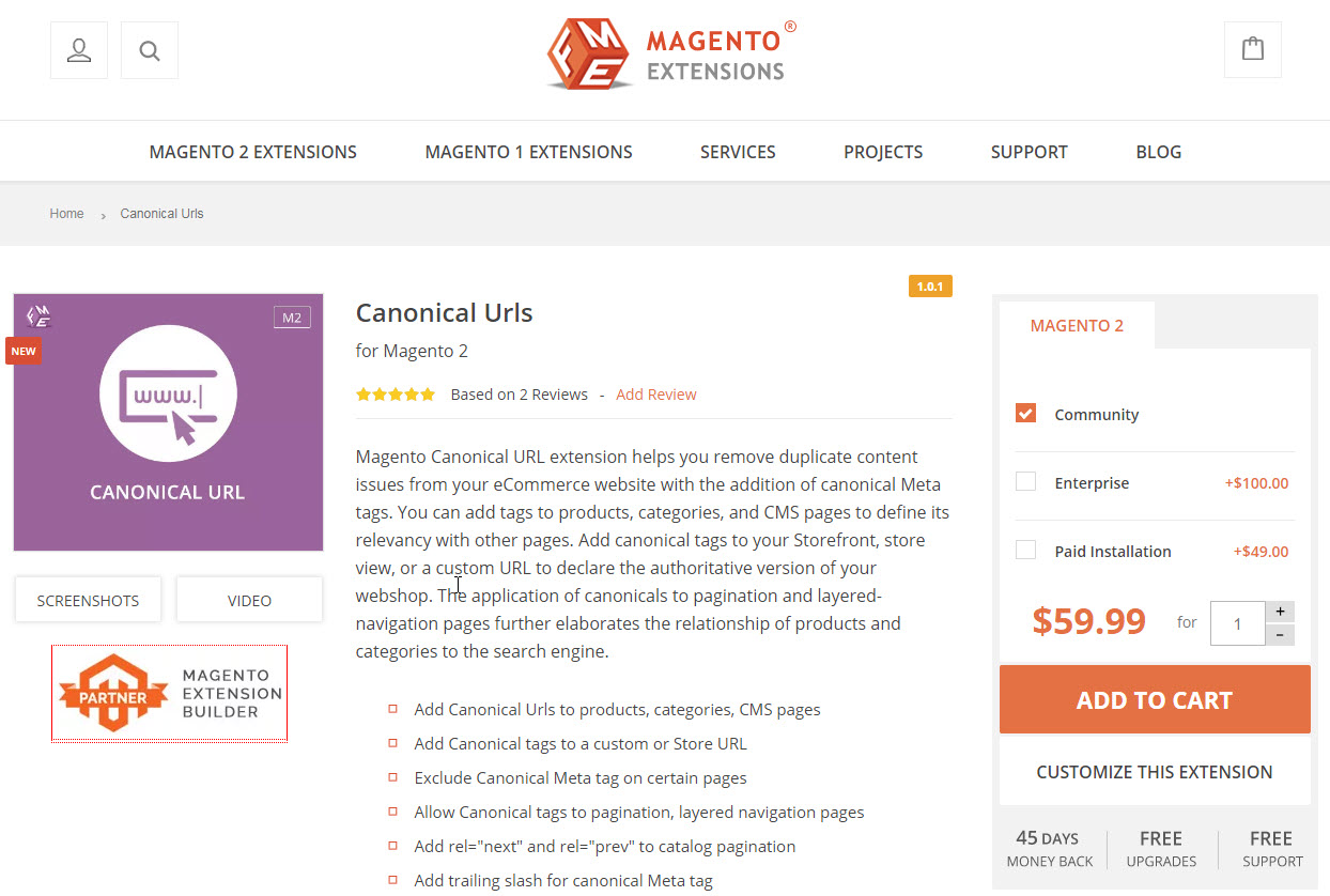 five extensions for on-page SEO - Canonical url