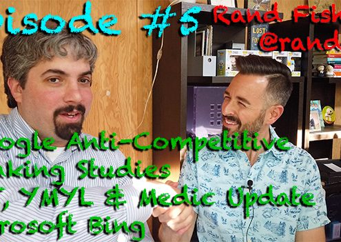 Vlog # 5: Rand Fishkin on Google Anti-Competitive, Ranking Studies, EAT & YMYL & Bing (part two)