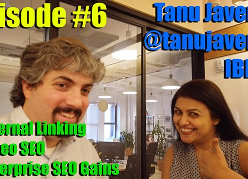 Vlog # 6: Tanu Javeri from IBM about the use of internal links and video for SEO for large companies