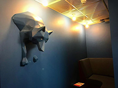 Google Wall With Wolf