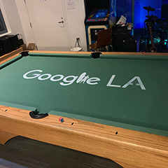 Google LA pool table