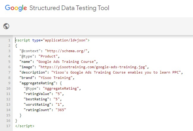 Google & # 39; s structured data test tool