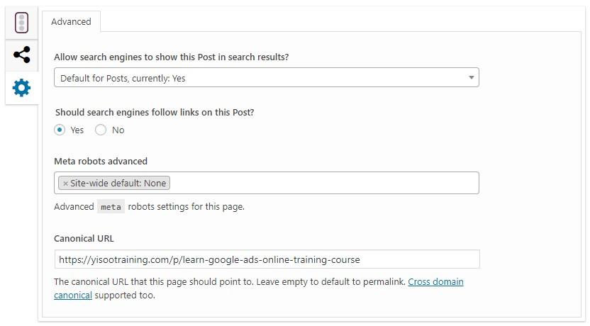 yoast plug-in for wordpress to create canonical URL & # 39; s technical SEO tool