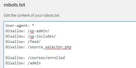 technical tool for SEO performance for a robots.txt file
