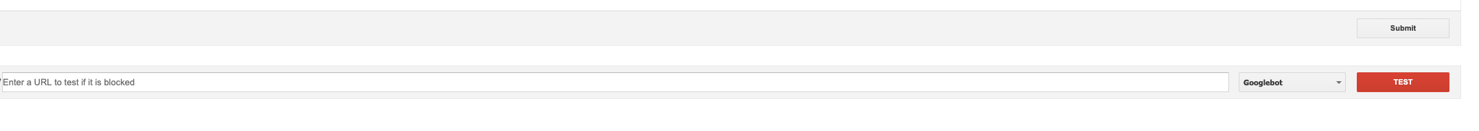 google search console tester tool for testing the robots.txt file of a site