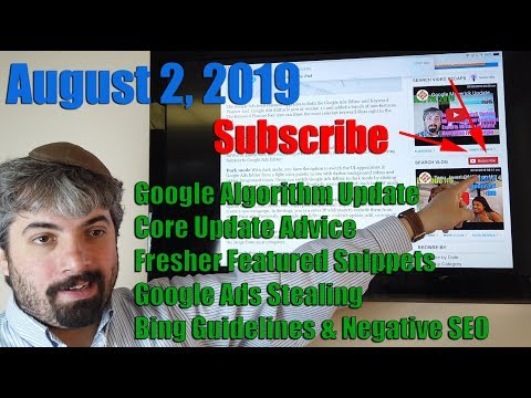 Search Buzz Video Recap: Google Algorithm Update, Core Update Advice, Fresher Featured Snippets, Google Ads, Bing Guidelines & Negative SEO