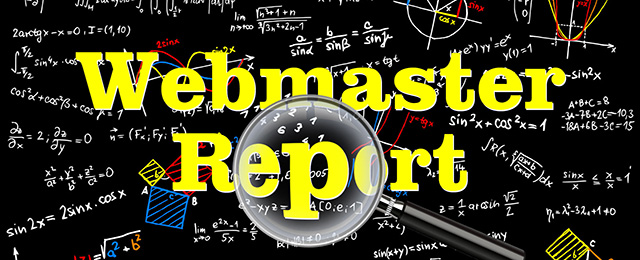 Webmaster report from August 2019